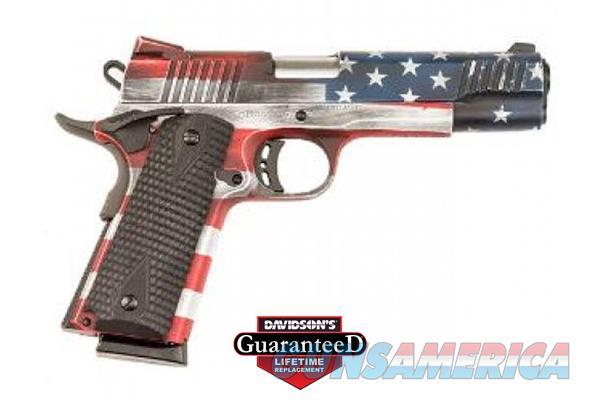 1911 LSI/ SPORTS Full Size Cerakote Battleworn USA Flag -  USA - 8+1- 45AP -  Guns > Pistols > Citadel Pistols