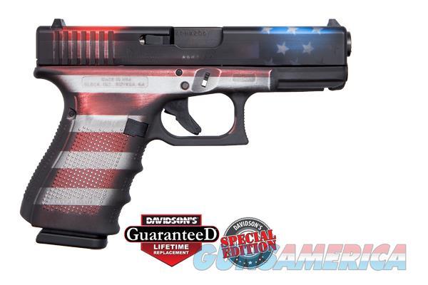 GLK 19 GEN4 9MM 15R CKBWFLAG - Apollo Custom Edition;Battlework Cerakote USA Flag  Guns > Pistols > Glock Pistols > 19/19X