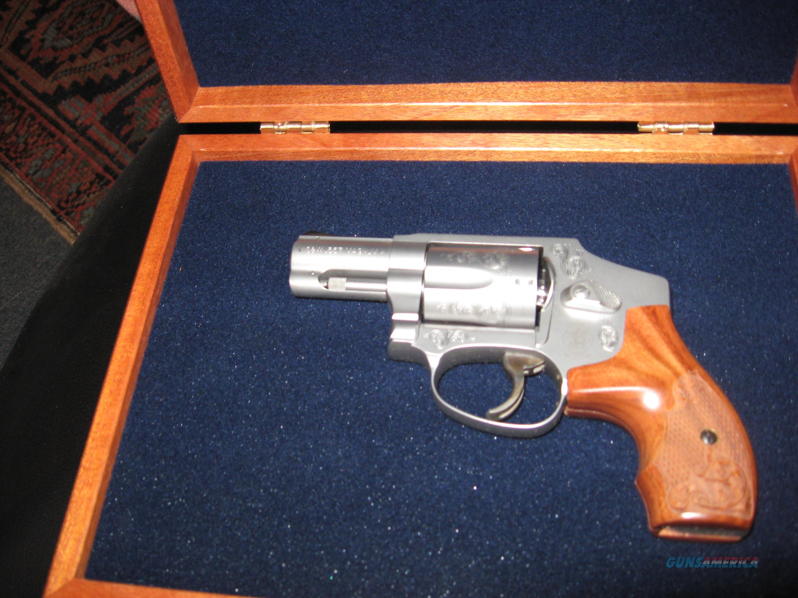 """S&W MODEL 640 - """"ON SALE"""" - ENGRAVED W/MAHOGHANY CASE - .357 MAGNUM - 2.125 BL  Guns > Pistols > Smith & Wesson Revolvers > Small Frame ( J )"""