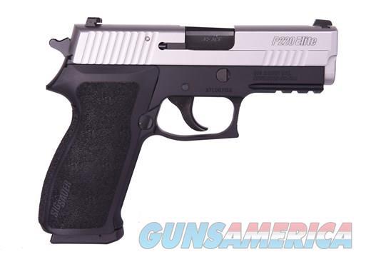 """SIG SAUER 220 ELITE 45 ACP - NEW IN BOX - NITE SLITE - BARREL 3.9"""" - DA/SA - MODEL W220-45-SP - 8+1 - 2 MAGAZINES   Guns > Pistols > Sig - Sauer/Sigarms Pistols > P220"""