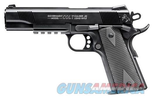 COLT GOVERNMENT 1911A1 RAIL 22LR 10+1 - MDL #: 517030810  Guns > Pistols > Colt Automatic Pistols (22 Cal.)