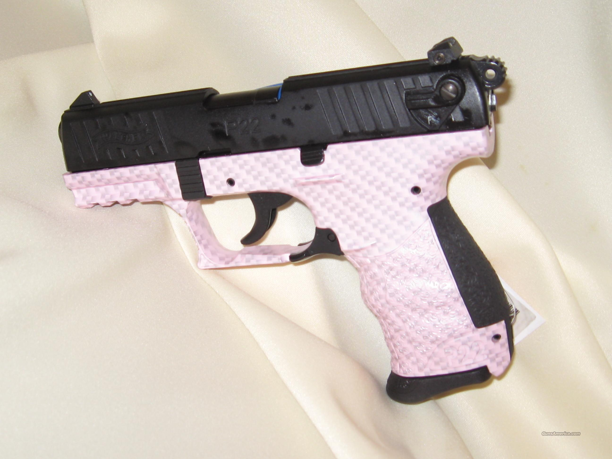 WALTHER P22 PINK CARBON .22 LR  Guns > Pistols > Walther Pistols > Post WWII > P22