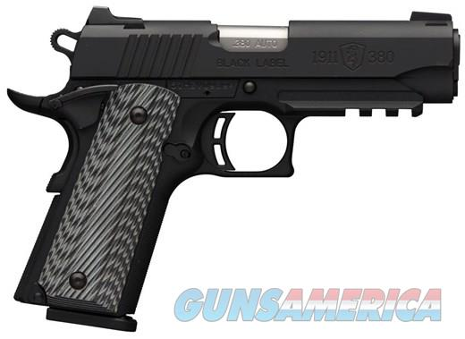 "***REDUCED*** BROWNING BLACK LABEL - 1911-380 PRO - RAIL - NIGHT SIGHTS - G10 COMPOSITE GRIPS - "" REDUCED ""  Guns > Pistols > Browning Pistols > Other Autos"