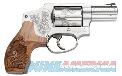 "S&W MODEL  640 CENTENNIAL "" ENGRAVED FRAME & STOCK "" STAINLESS 5 ROUND - DOUBLE ACTION ONLY "" ON SALE ""  Guns > Pistols > Smith & Wesson Revolvers > Pocket Pistols"