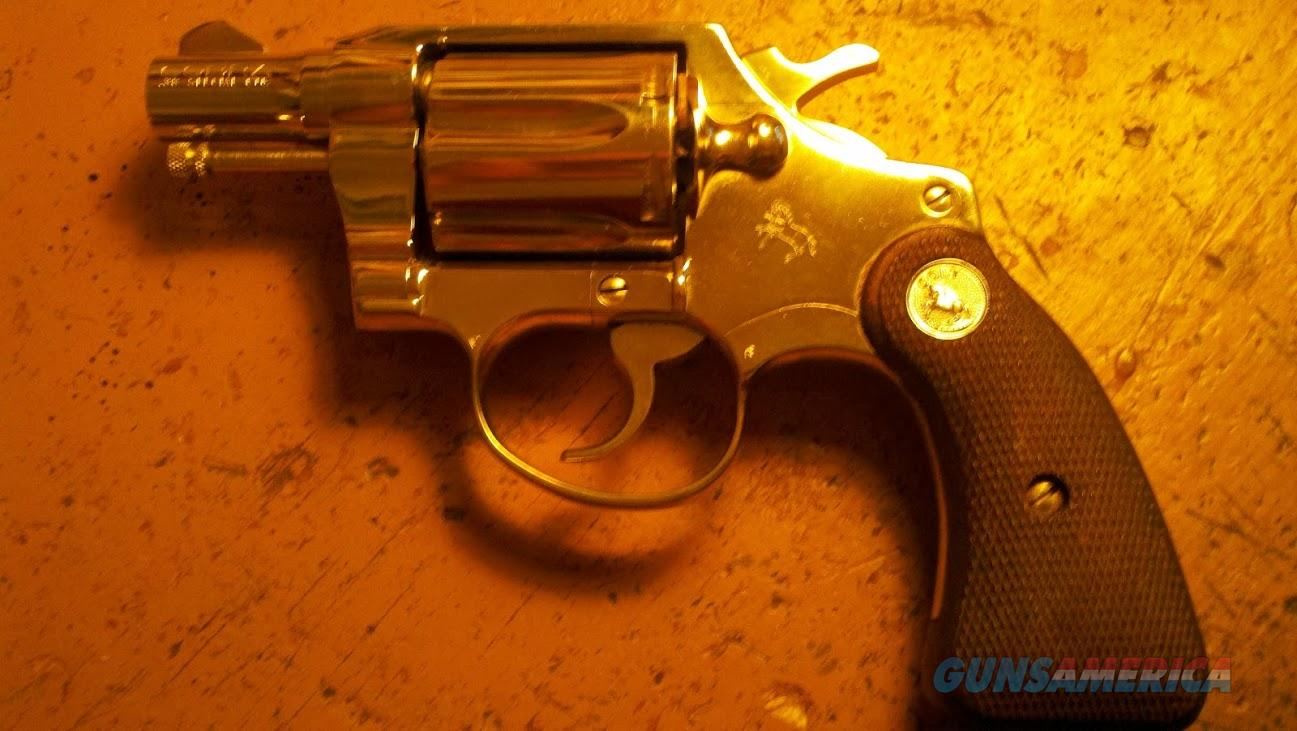 Early Colt Nickel Cobra  Guns > Pistols > Colt Double Action Revolvers- Modern