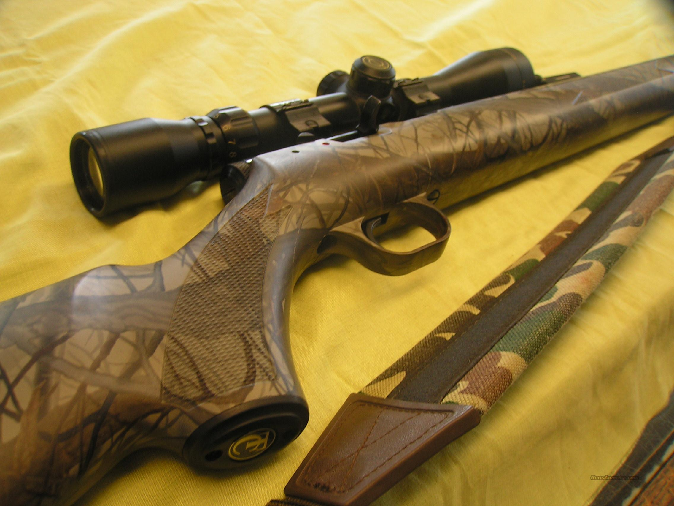 Camo Thompson Center Black Diamond XR with Scope  Guns > Rifles > Thompson Center Muzzleloaders > Hawken Style