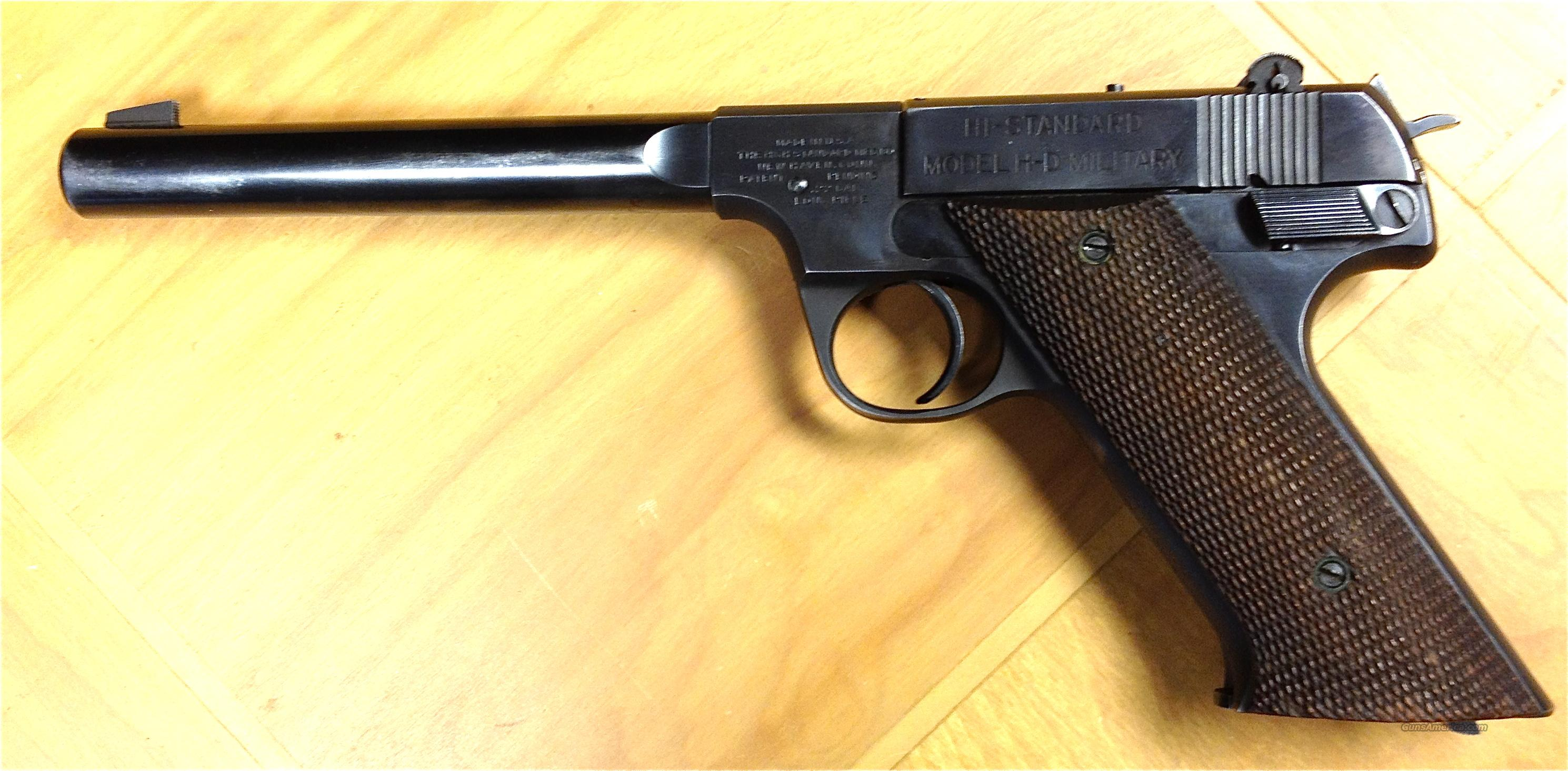 Hi Standard H D Military 22 Long Rifle Pistol For Sale