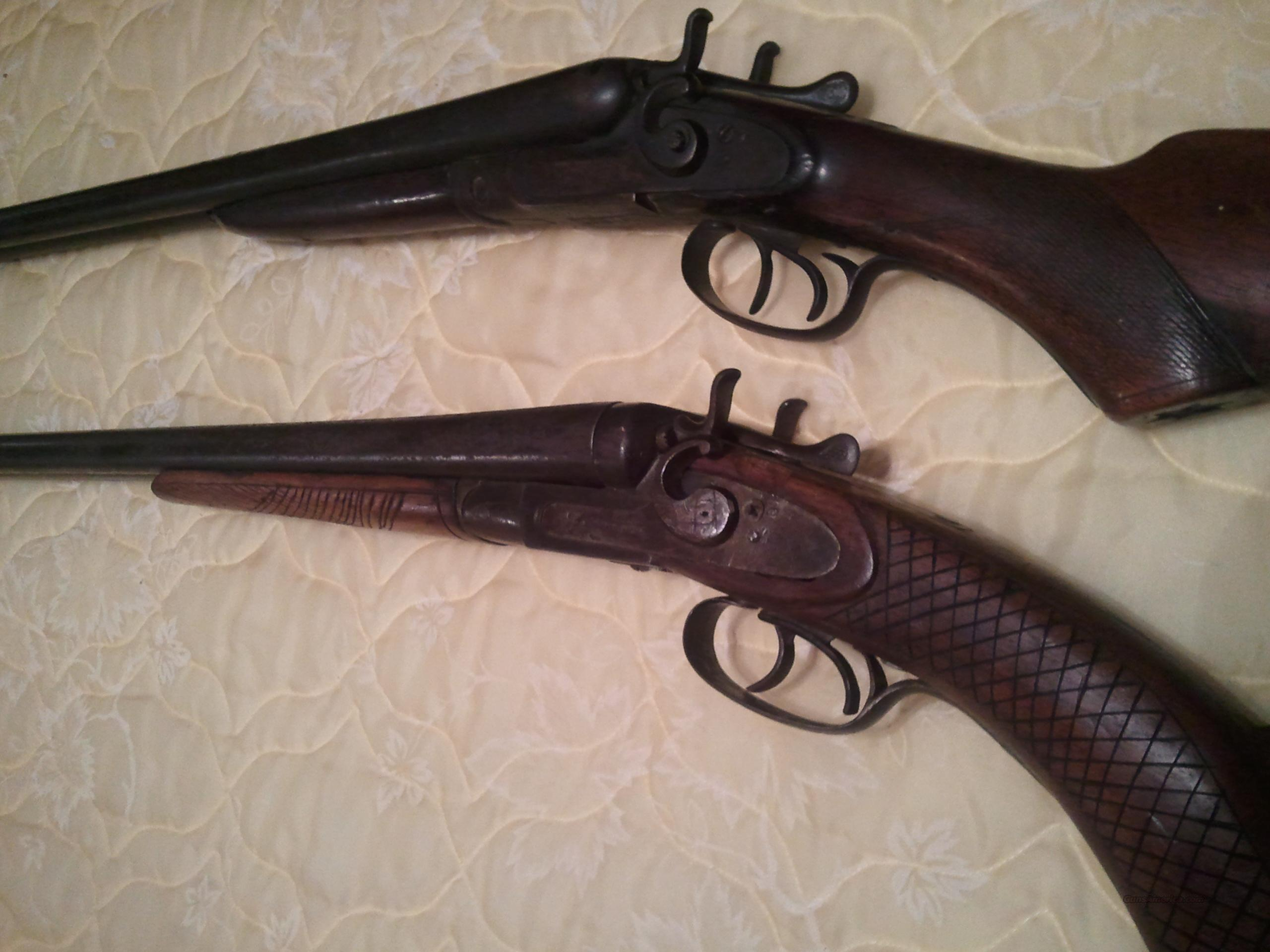 W.m. Parkhurst and J. Reynolds Double Barrel Shotguns  Guns > Shotguns > A Misc Shotguns