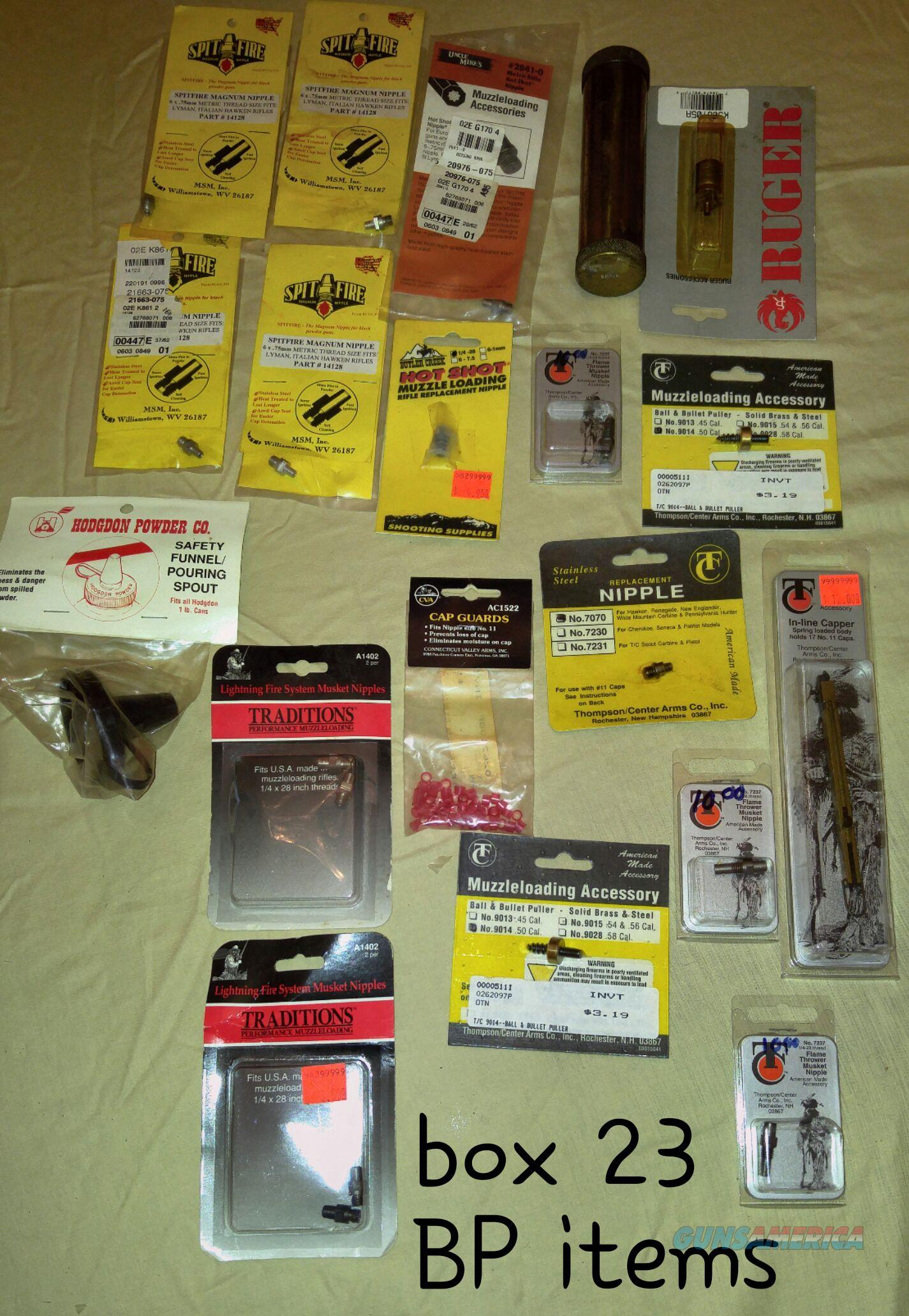 Black powder accessories many view picture   Non-Guns > Black Powder Muzzleloading