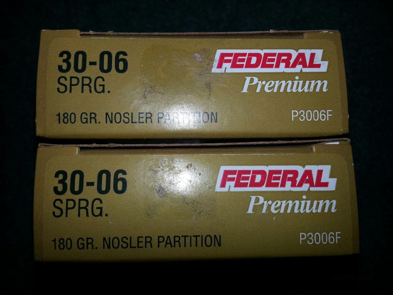 30-06 Federal Premium 180gr Nosler Partition  Non-Guns > Ammunition