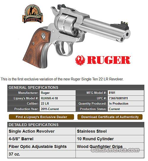 Ruger Single Ten revolver  Guns > Pistols > Ruger Single Action Revolvers > Single Six Type