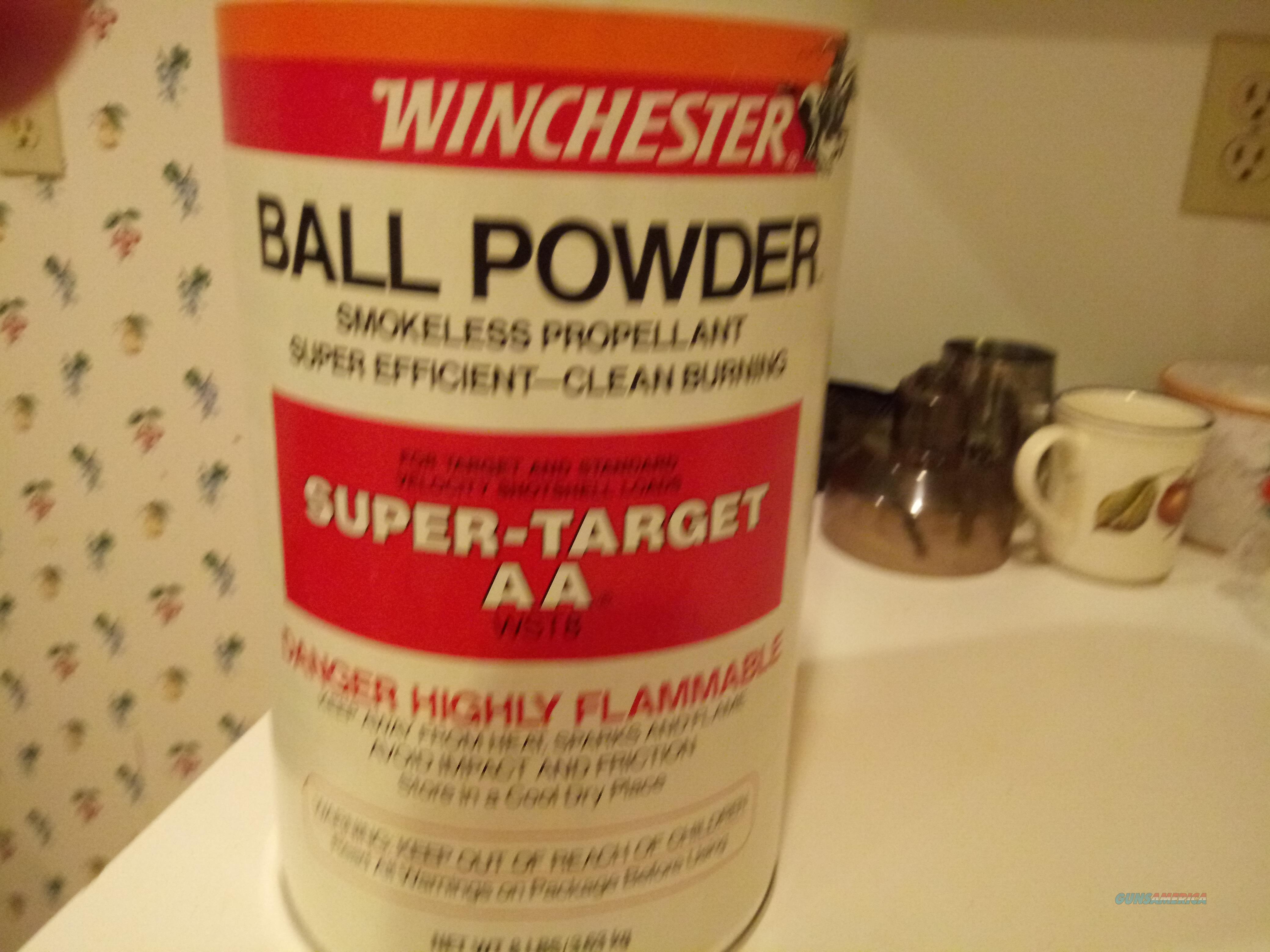 WINCHESTER BALL POWDER SUPER-TARGET AA..8lb Can  Non-Guns > Black Powder Cartridge
