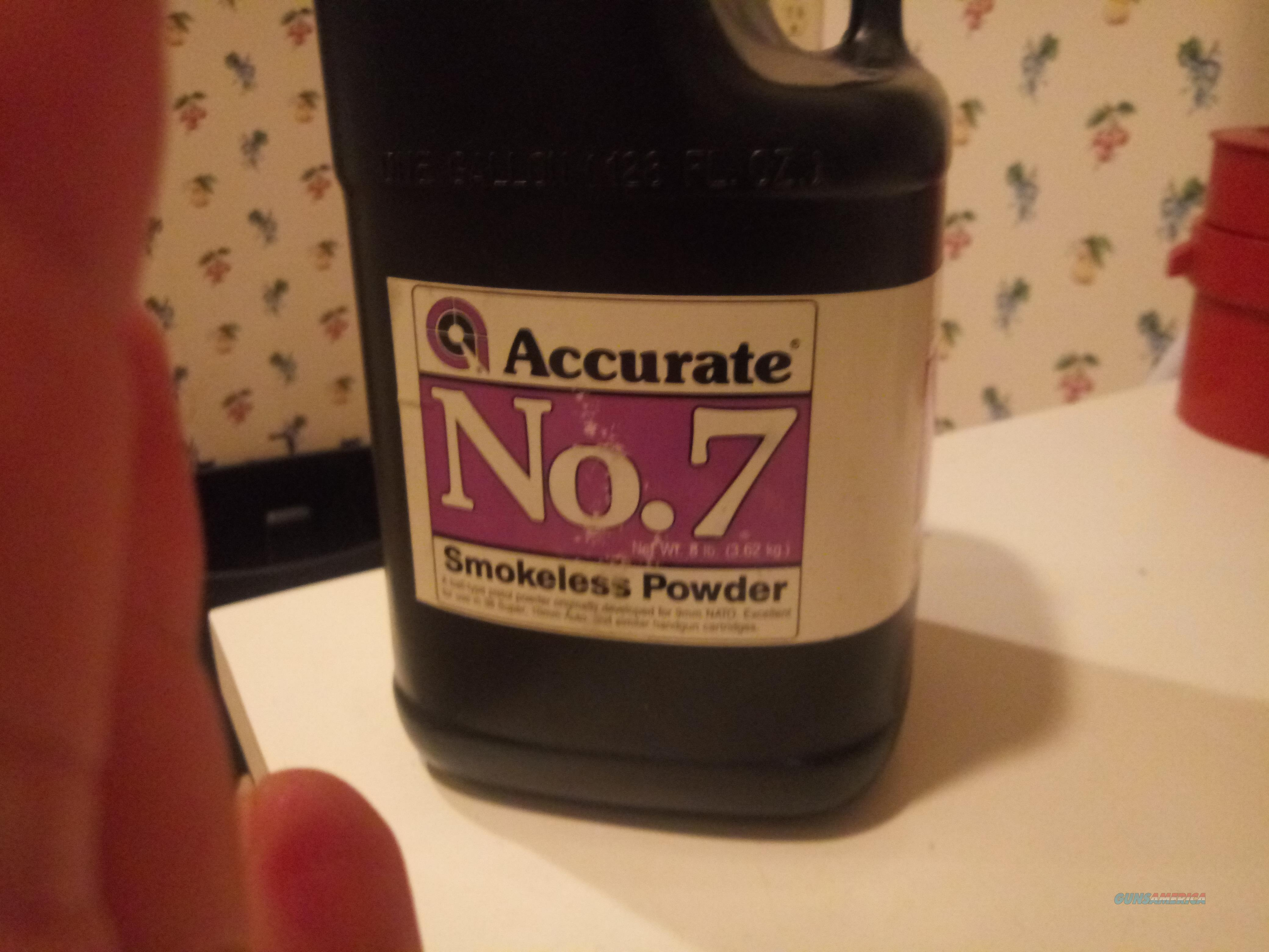 Accurate No.7 Smokeless Powder..8lb Jug  Non-Guns > Black Powder Cartridge