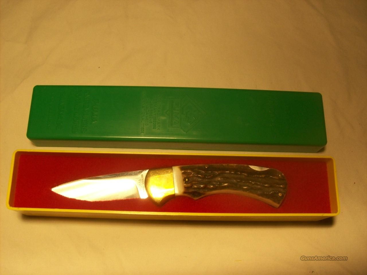 Puma 745 Stag Drop Point Folder  Non-Guns > Knives/Swords > Knives > Folding Blade > Imported