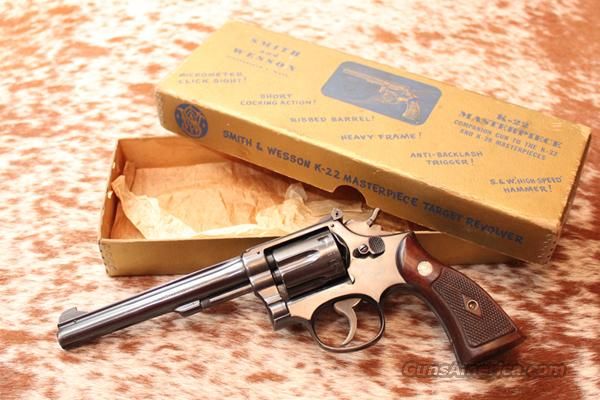 "Smith & Wesson K-22 Masterpiece (""one liner"")  Guns > Pistols > Smith & Wesson Revolvers > Full Frame Revolver"