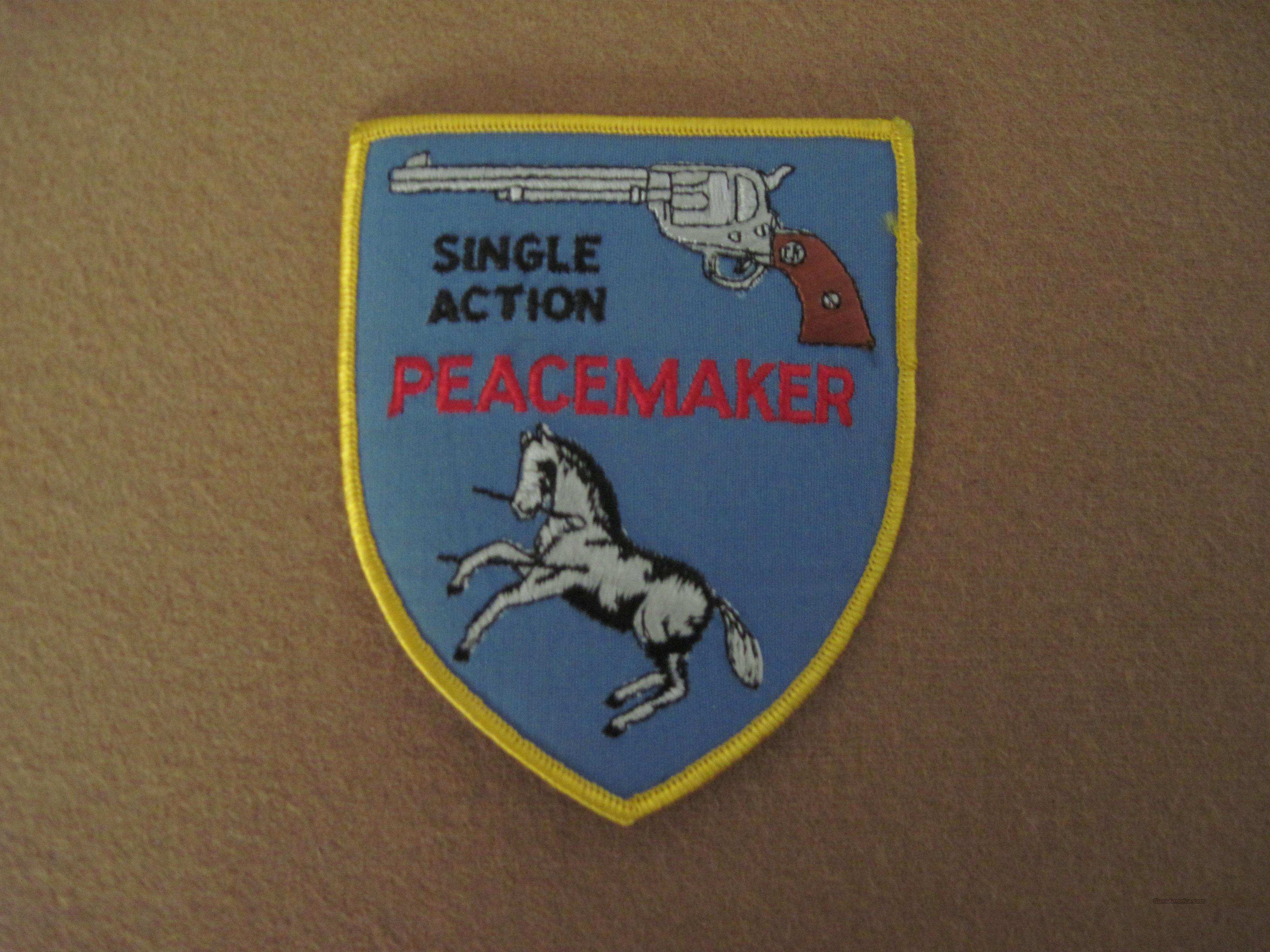 Colt Single Action Peacemaker Patch  Guns > Pistols > Colt Single Action Revolvers - 1st Gen.