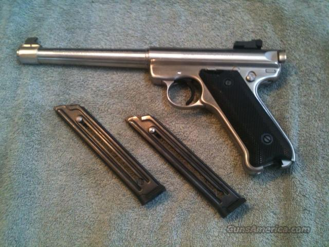 Ruger .22lr Mark II Target Stainless Steel  Guns > Pistols > Ruger Semi-Auto Pistols > Mark I & II Family