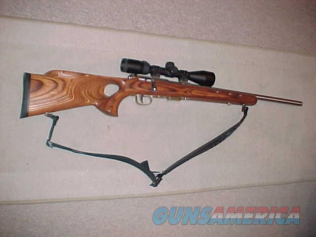 SAVAGE 93R17 STAINLESS THUMBHOLE 17HMR  Guns > Rifles > Savage Rifles > Rimfire