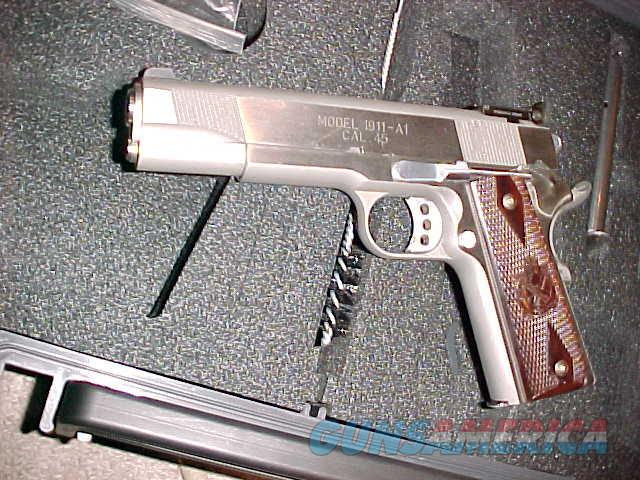 SPRINGFIELD 1911 A1 LOADED TARGET S/S 45  Guns > Pistols > Springfield Armory Pistols > 1911 Type