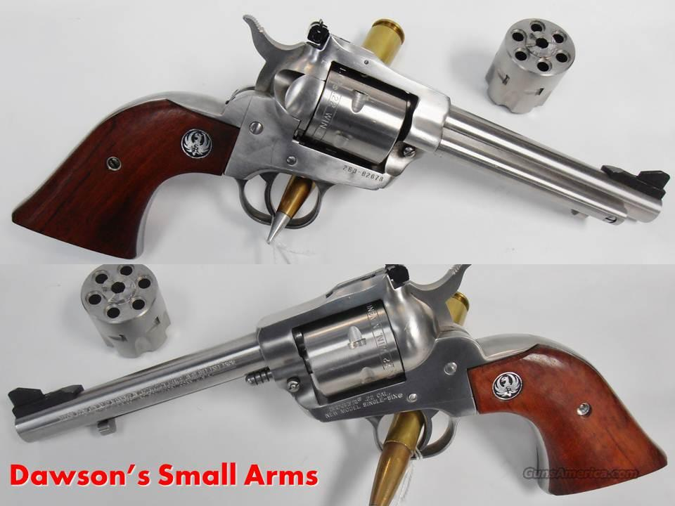RUGER Single Six COMBO 22MAG+22LR Stainless Steel Near New Condition  Guns > Pistols > Ruger Single Action Revolvers > Single Six Type