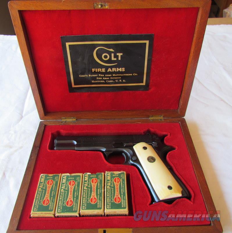 COLT COMMERCIAL ACE PRE WWII 100% RARE PRESENTATION CASE  Guns > Pistols > Colt Automatic Pistols (1911 & Var)
