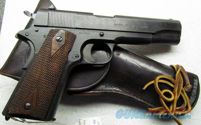 "1911 COLT 1918 WW1 ""BLACK ARMY"" WITH BOYT HOLSTER  Guns > Pistols > Colt Automatic Pistols (1911 & Var)"