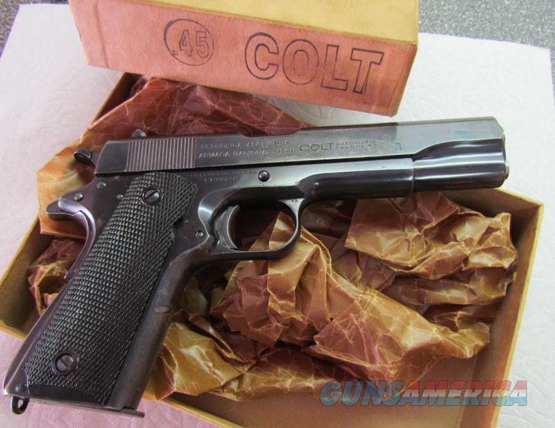 COLT MFG'D 1911 A1 1941 ARGENTINE NAVY COLT WITH SWARTZ SAFETY RARE  Guns > Pistols > Colt Automatic Pistols (1911 & Var)