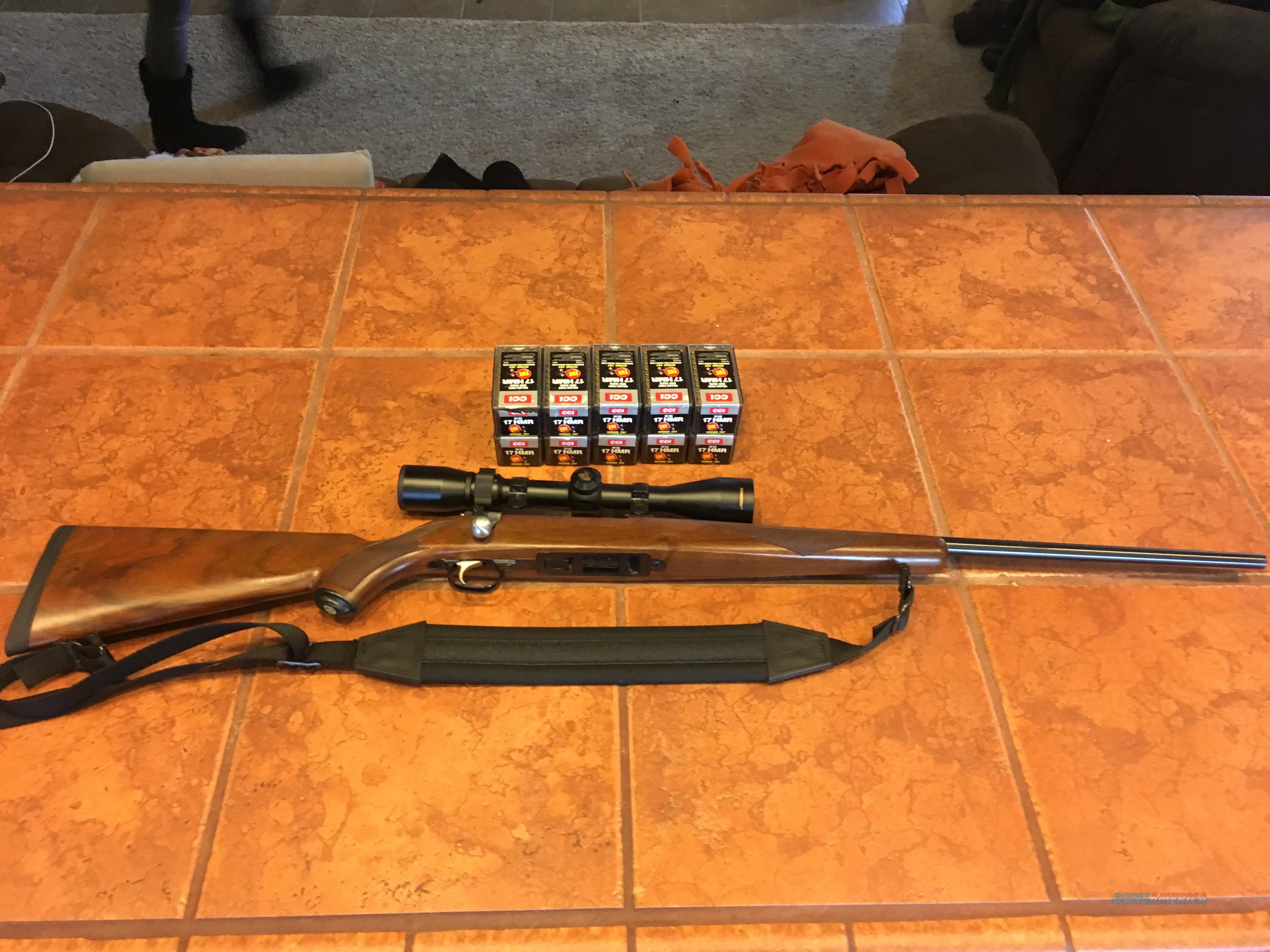 Ruger M77/.17 HMR  Guns > Rifles > Ruger Rifles > Model 77