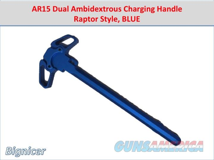 AR15 Dual Ambidextrous Charging Handle Raptor Style BLUE  Non-Guns > Gun Parts > M16-AR15 > Upper Only