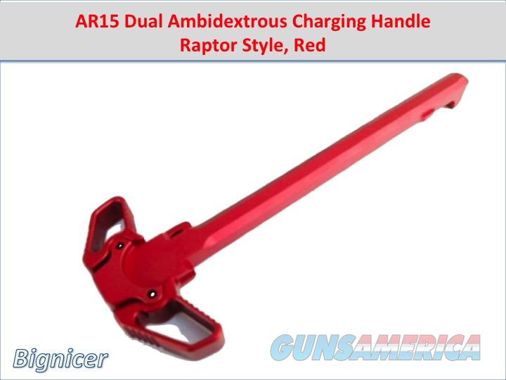 AR15 Dual Ambidextrous Charging Handle Raptor Style RED  Non-Guns > Gun Parts > M16-AR15 > Upper Only