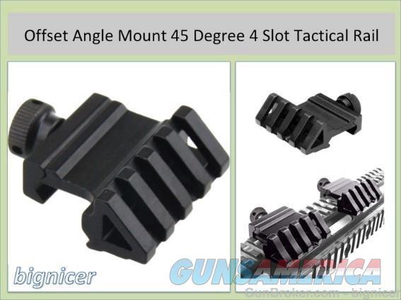 Offset Angle Mount 45 Degree 4 Slot Tactical Rail  Non-Guns > Gun Parts > M16-AR15 > Upper Only