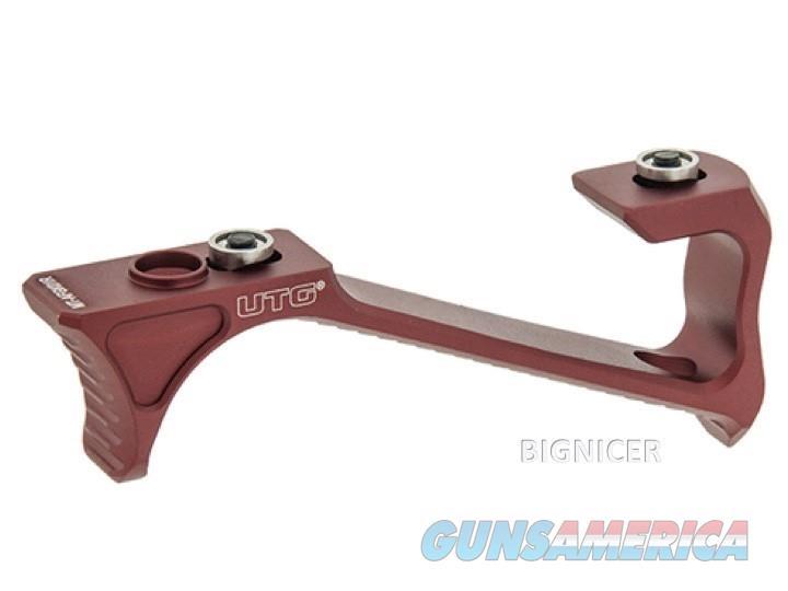 UTG Ultra Slim Angled Foregrip, Keymod, Matte Red, MT-AFGK01R  Non-Guns > Gun Parts > M16-AR15 > Upper Only