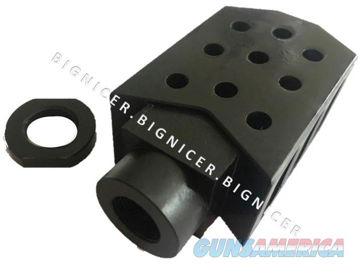 50 Cal Barrett style Tanker Muzzle brake TPI 1/2x28 223, 5.56  Non-Guns > Gun Parts > M16-AR15 > Upper Only