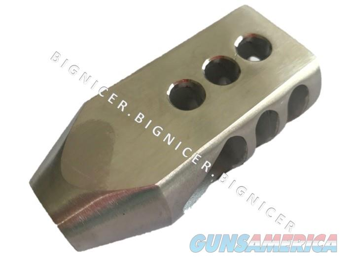 Tanker Style Steel Muzzle Brake for AR10 .308 300 Blackout 5/8x24 Thread  Non-Guns > Gun Parts > M16-AR15 > Upper Only