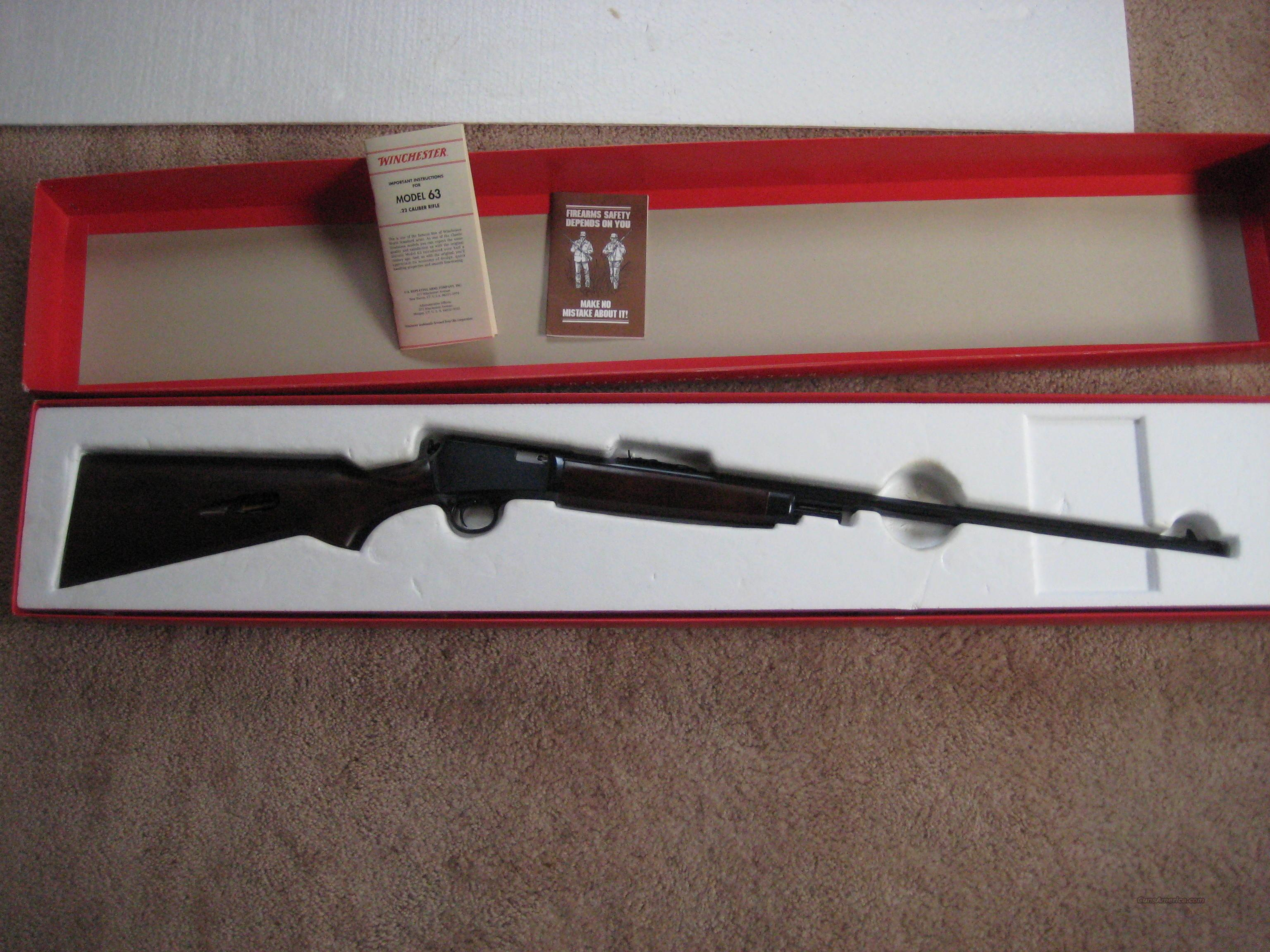 Winchester Model 63  22 long rifle N.I.B.  Guns > Rifles > Winchester Rifles - Modern Bolt/Auto/Single > Autoloaders