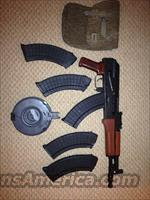 Polish Hellpup AK47 with drum and 5 magazines  Guns > Rifles > AK-47 Rifles (and copies) > Folding Stock