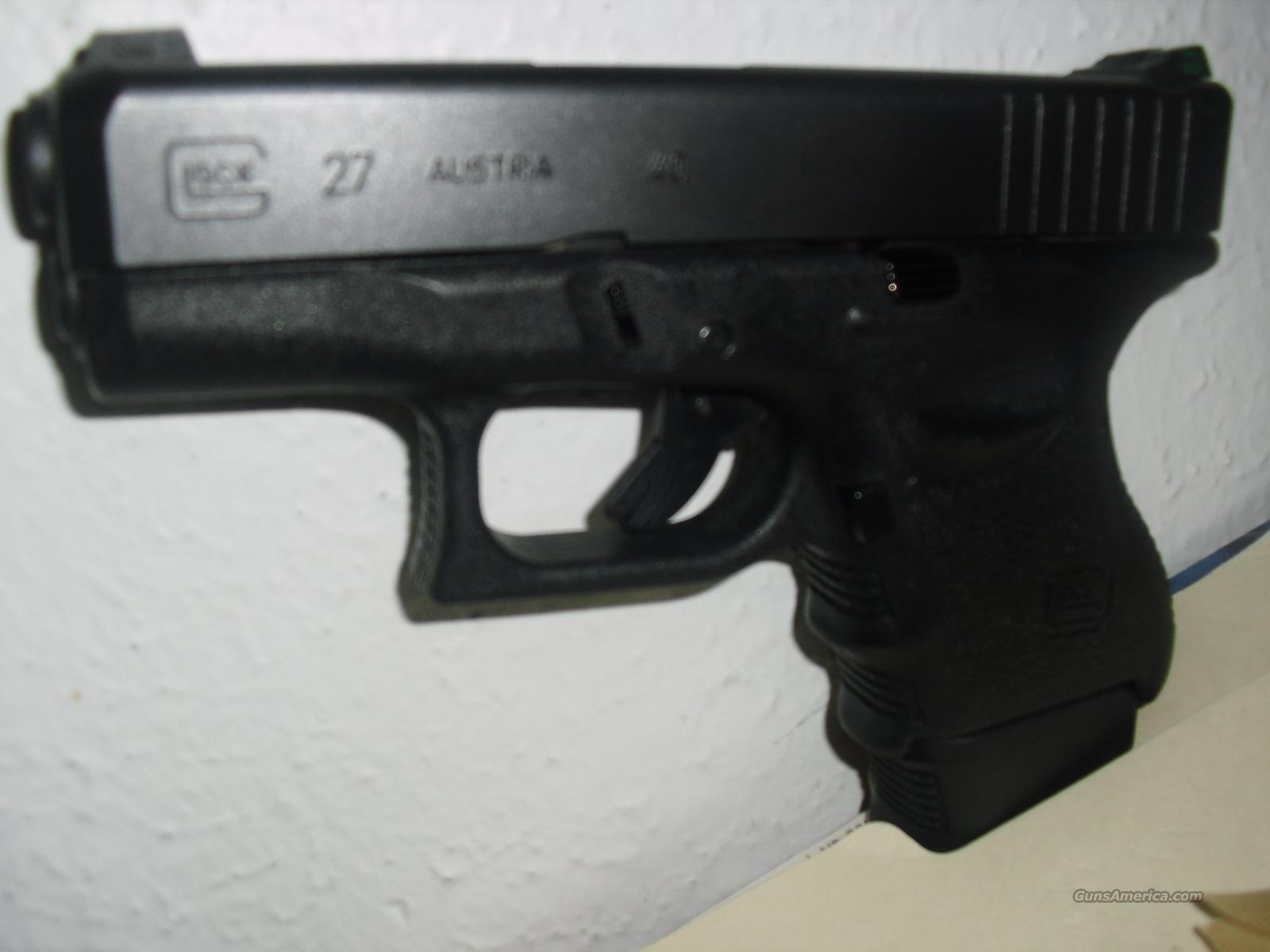 Glock 27 W/ Tru Dot Night Sights  Guns > Pistols > Glock Pistols > 26/27
