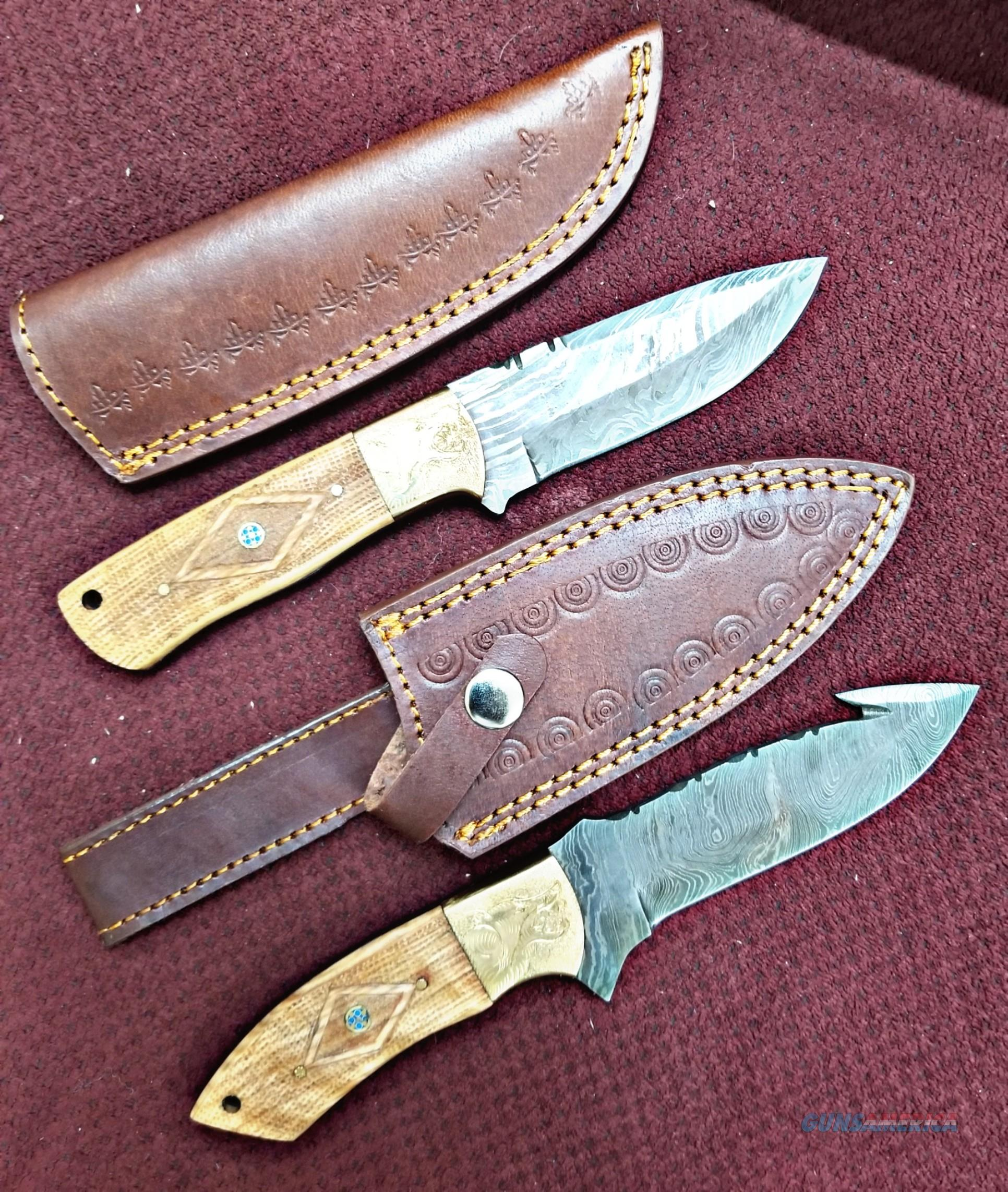 Damascus Custom made THE WOLF PACK   Non-Guns > Knives/Swords > Knives > Fixed Blade > Hand Made