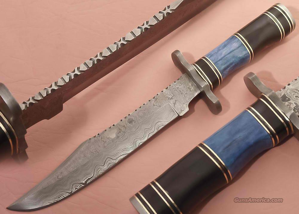 handmade bowie knives for sale custom made damascus bowie knife for sale 4632