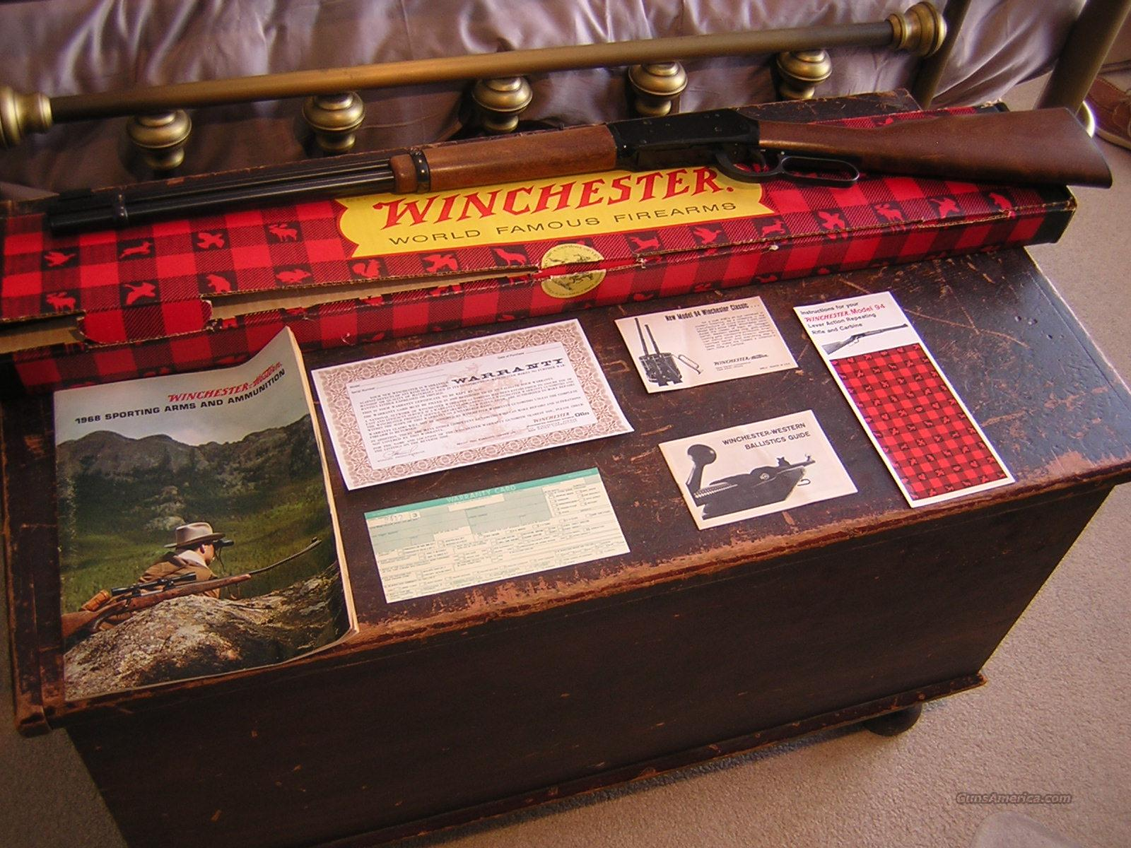 New In Box Vintage 1968 Winchester 94 1894 Rifle 20 Inch 30-30  Guns > Rifles > Winchester Rifles - Modern Lever > Model 94 > Post-64