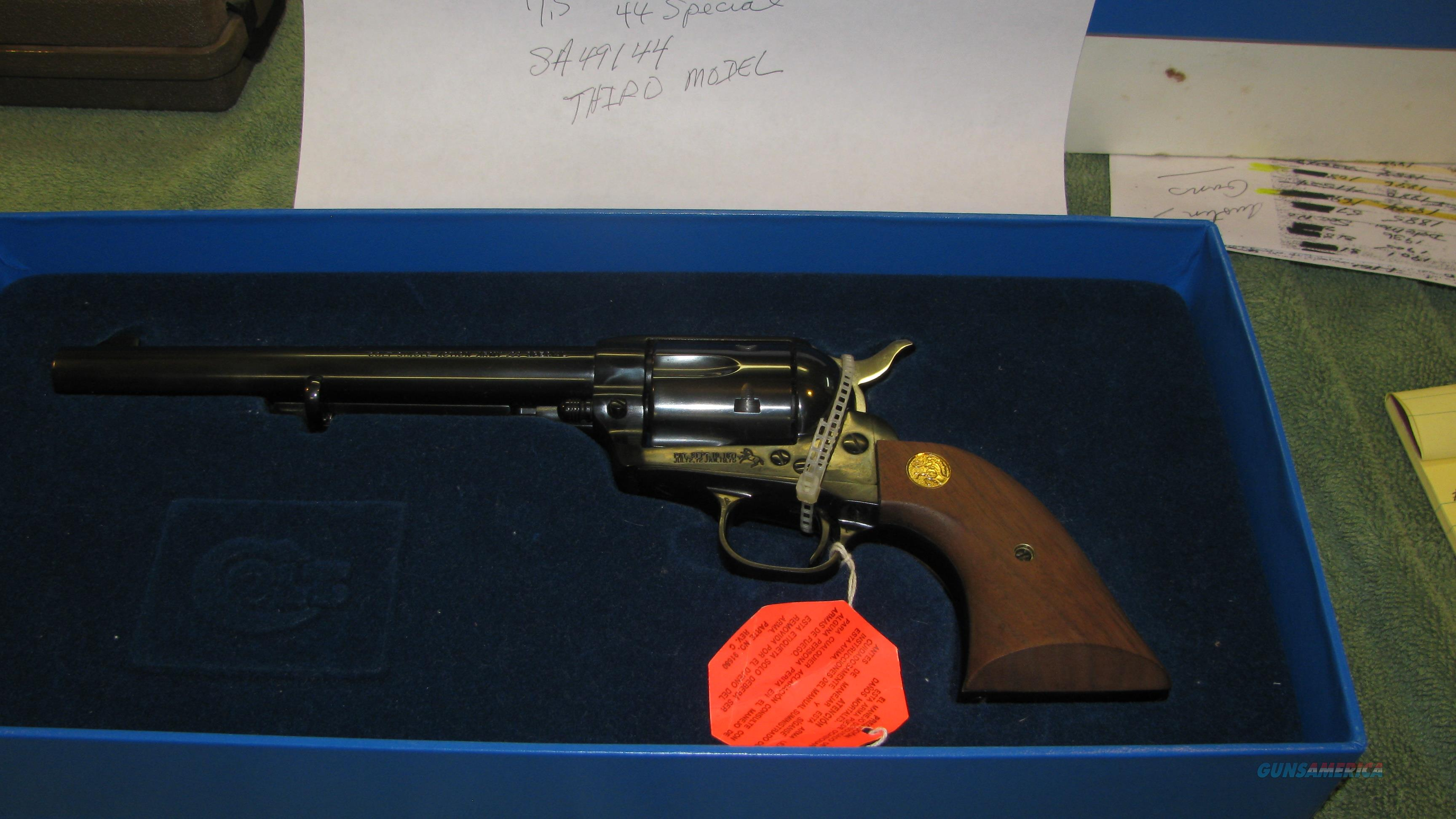 Colt SAA 44spl New  Guns > Pistols > Colt Single Action Revolvers - 3rd Gen.