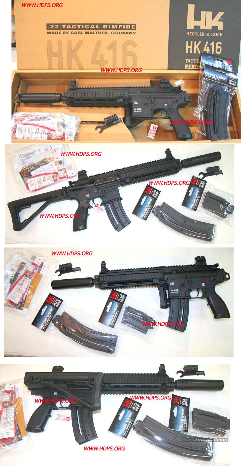 HK 416 D .22 LR Cal. NIB  Special HDPS Custom Shop Limited  Guns > Rifles > Heckler & Koch Rifles > Tactical
