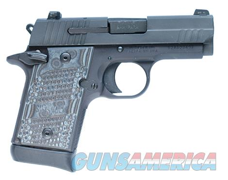 SIG Sig Sauer P938 9MM 3IN Extreme BLK SAO Siglite Black/Gray G10 Grip (1) 7RD Steel MAG Ambi Safety  Guns > Pistols > Sig - Sauer/Sigarms Pistols > P938
