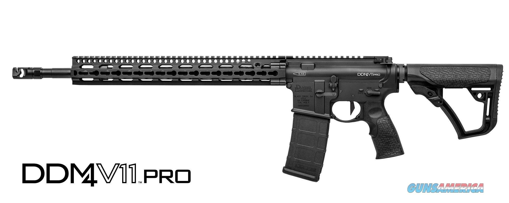Daniel Defense 02-151-12033-047 DDM4 V11 Pro AR-15 Rifle 5.56mm 18in 30rd Black  Guns > Rifles > Daniel Defense > Complete Rifles
