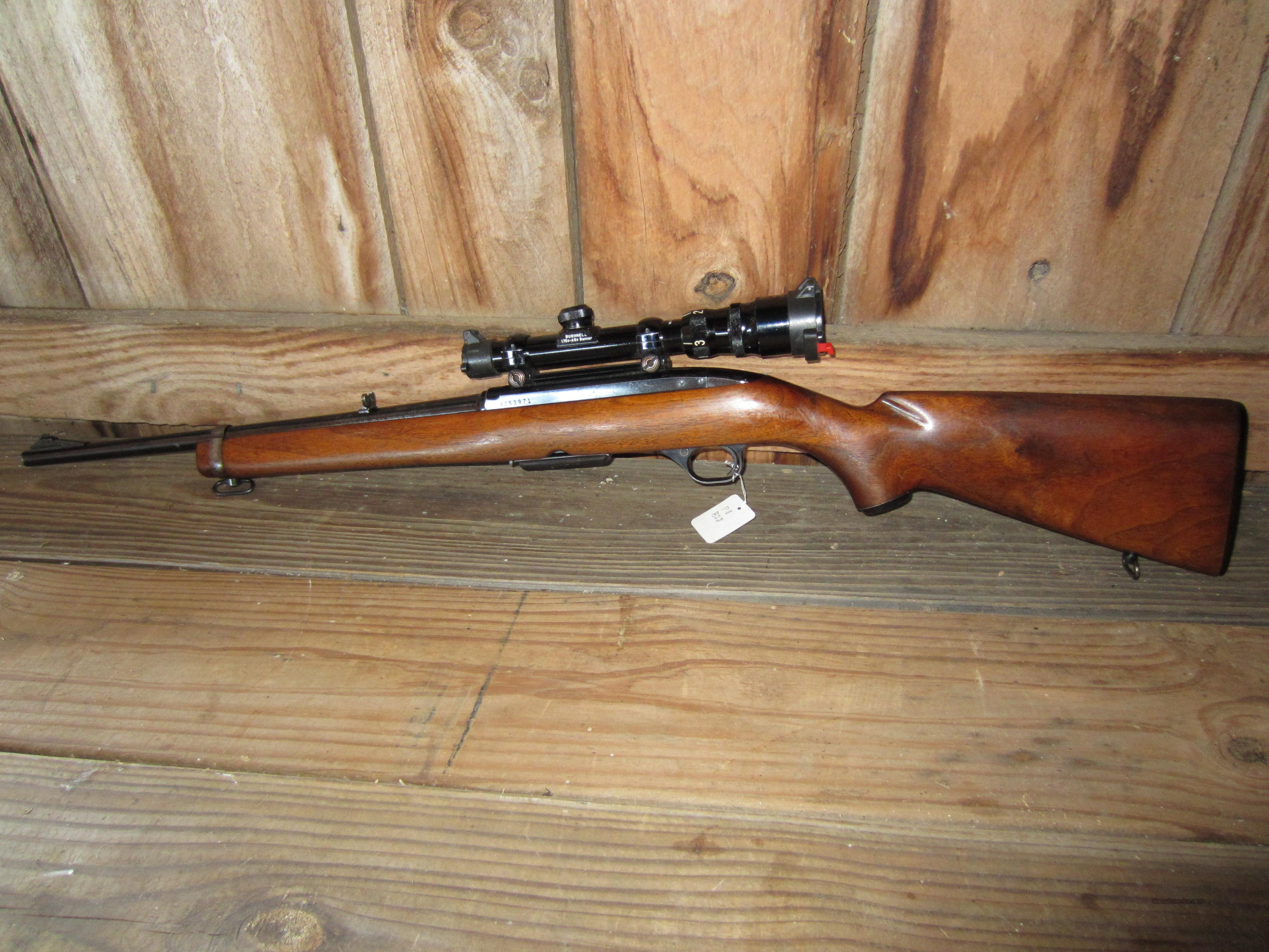 Very Nice Winchester Model 100 Carbine 243 + Scope   Guns > Rifles > Winchester Rifles - Modern Bolt/Auto/Single > Autoloaders