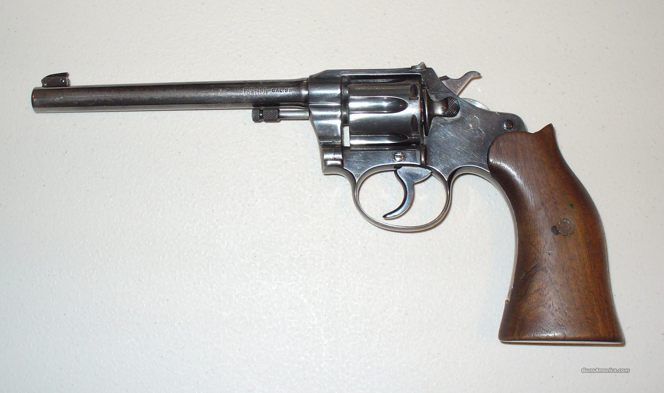 Colt Police Positive Target Model (First Issue)  Guns > Pistols > Colt Double Action Revolvers- Pre-1945