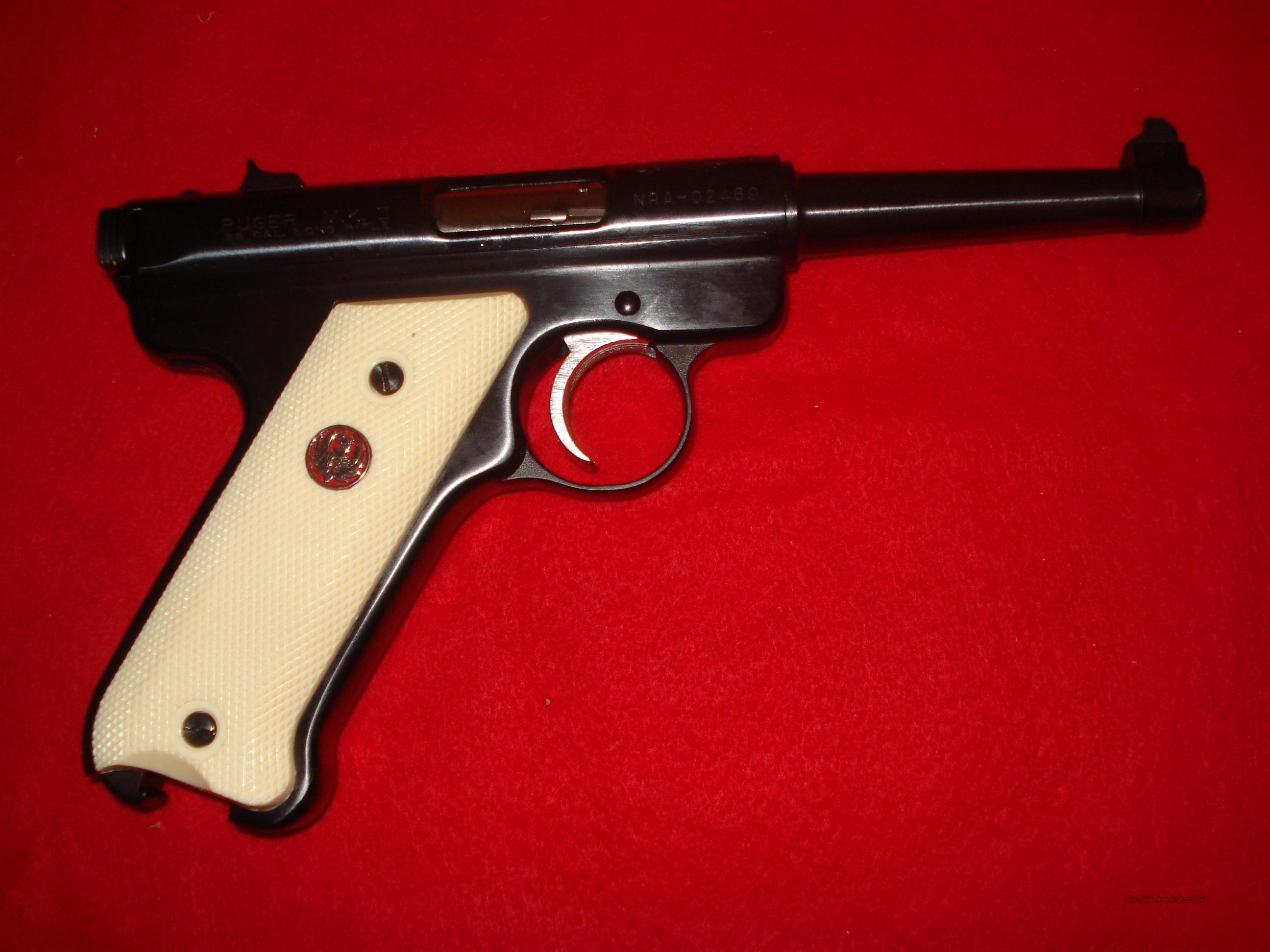 "Ruger MK II  ""WILLIAM RUGER"" COMMEMORATIVE""  Guns > Pistols > Ruger Semi-Auto Pistols > Mark I & II Family"