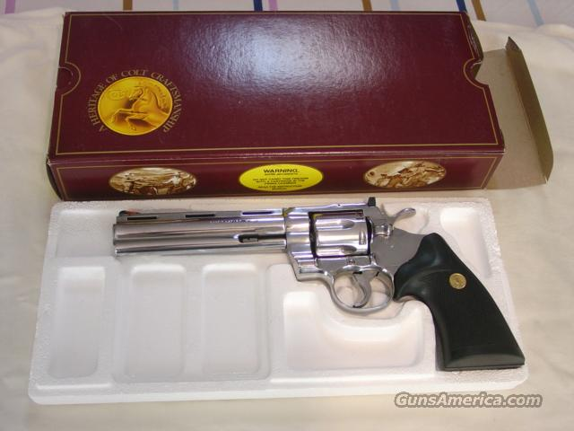 "Colt Python 6"" Bright Stainless  Guns > Pistols > Colt Double Action Revolvers- Modern"