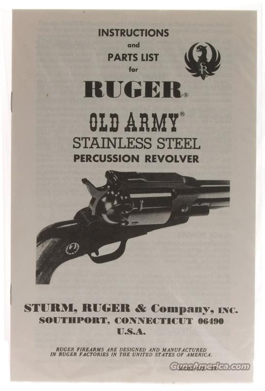 Ruger Old Army Cap-N-Ball .45 Revolver  Guns > Pistols > Ruger Cap & Ball Revolvers