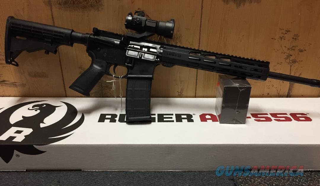 "Ruger 8529 AR-556 223/5.56 30+1 with 1x35 Red Dot 11"" MAGPUL M-LOK Handguard ""NO CREDIT CARD FEE""  Guns > Rifles > Ruger Rifles > AR Series"